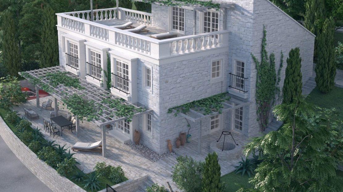 waterfront villa plot kotor bay