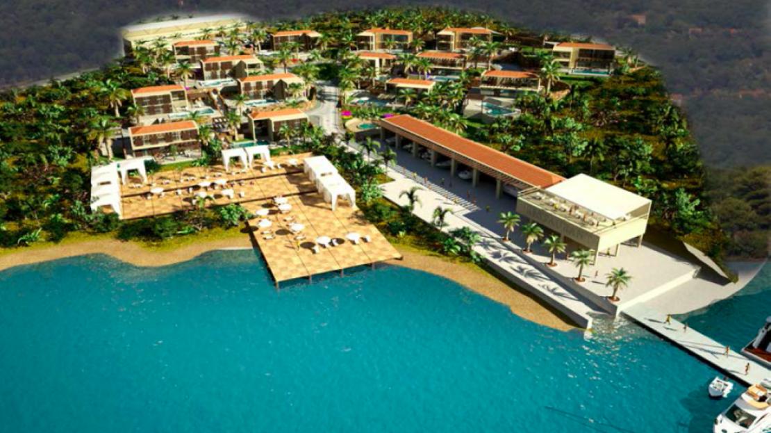 seafront development plot tivat