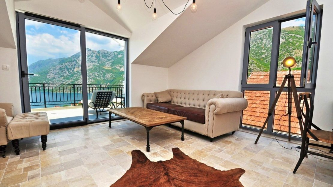 luxury penthouse apartment kotor bay