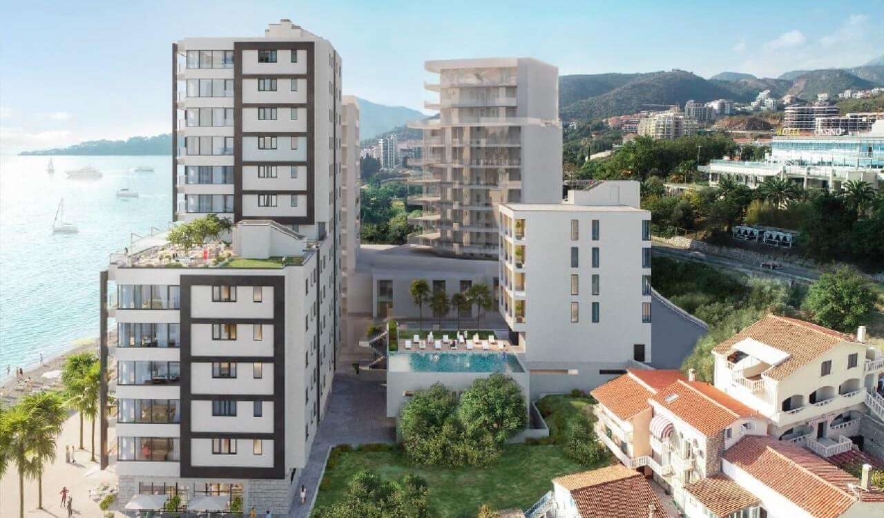 condo hotel units budva rafailovici for sale