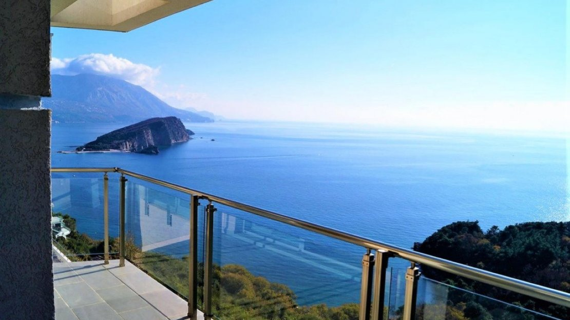 budva apartment with panoramic sea view