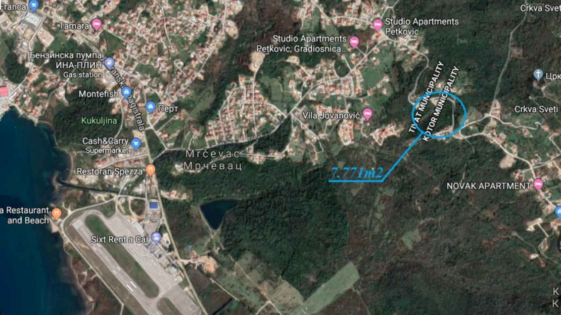 urbanized land for apartments kavac