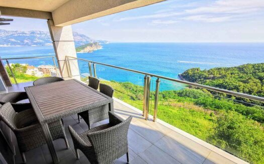 budva apartment panoramic sea view sale