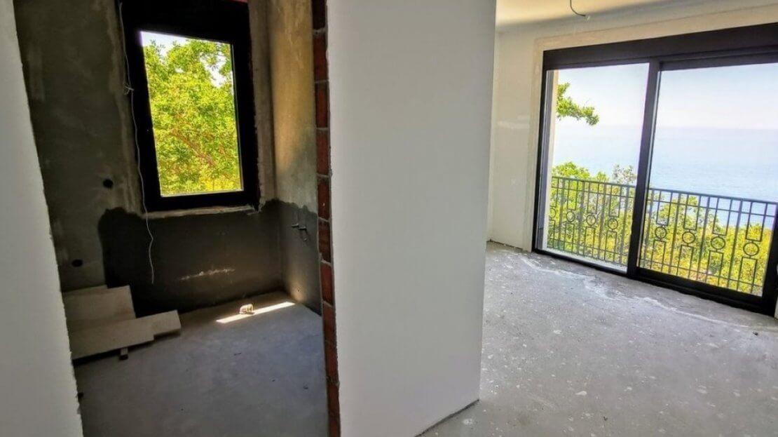 unfinished houses budva sale