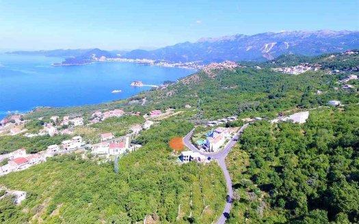 land for house sveti stefan view