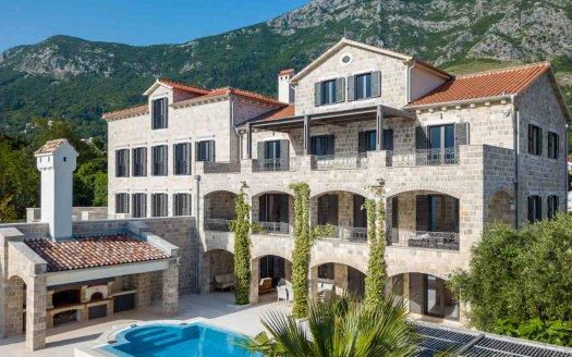 kotor bay seafront villa sale